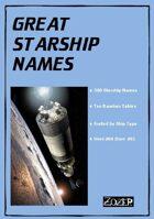 Great Starship Names