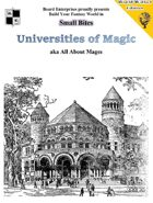 Universities of Magic aka All About Mages
