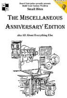The Miscellaneous Anniversary Edition aka All About Everything Else