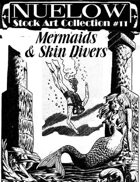 NUELOW Stock Art Collection #11: Mermaids & Skin Divers