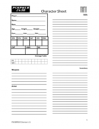 Psypher 2430 RPG Character Sheet