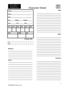 Psypher Shadows Character Sheet