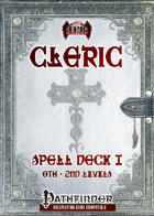 Cleric Spell Deck I (0th-2nd) [PF]