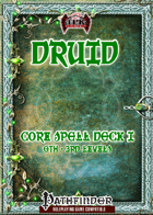 Druid Spell Deck I (0th-3rd) [PF]