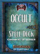 Pathfinder 2 - Occult Tradition Spell Deck I [Cantrips -3rd]