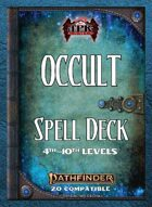 Pathfinder 2 - Occult Tradition Spell Deck II [4th - 10th]