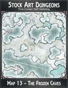 Stock Art Dungeons - Map 13 - The Frozen Caves