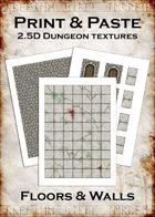 Print & Paste Dungeon textures: Floors & Walls