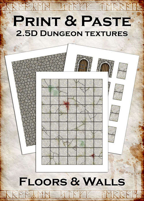 photo about Dungeons and Dragons Tiles Printable identify Print Paste Dungeon textures: Flooring Partitions - Crooked