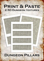 Print & Paste Dungeon textures: Pillars