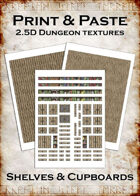 Print & Paste Dungeon textures: Shelves & Cupboards