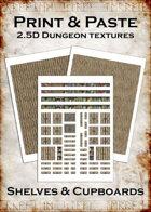 Print & Paste Dungeon textures: Shelves & Cupboards