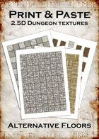Print & Paste Dungeon textures: Alternative Floors