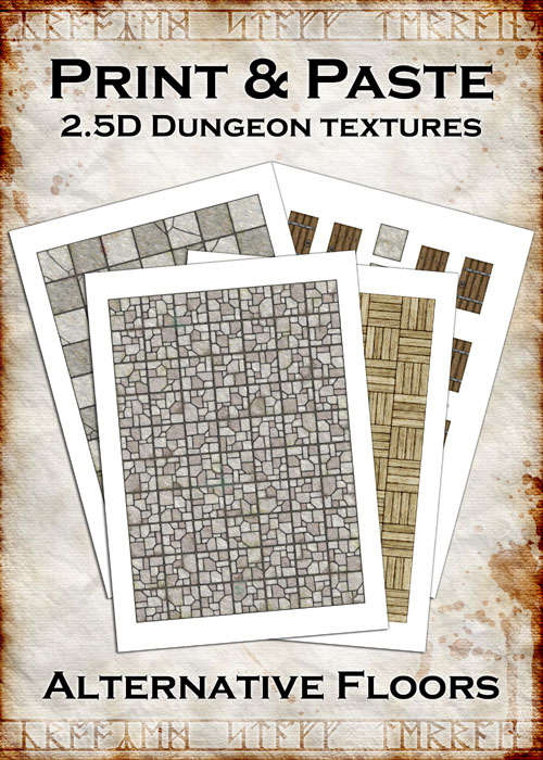 Print & Paste Dungeon textures: Alternative Floors