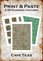 Print & Paste Dungeon textures: Cave Tiles