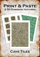 Print & Paste Dungeon textures: Cave Tiles