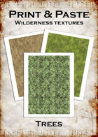 Print & Paste Wilderness Textures: Trees