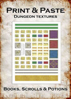 Print & Paste Dungeon textures: Books, Scrolls & Potions