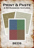 Print & Paste Dungeon textures: Beds