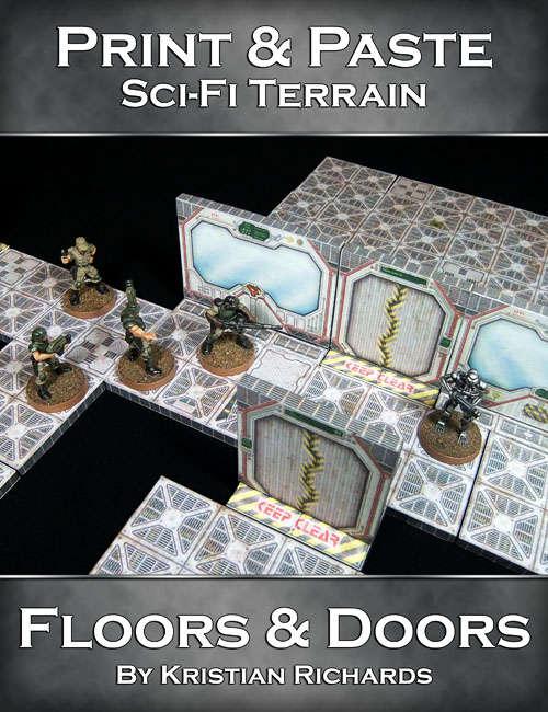 Print & Paste Sci-Fi Terrain : Floors & Doors - Crooked Staff Publishing |  Print & Paste | Wargame Vault
