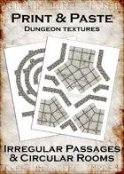 Print & Paste Dungeon textures: Irregular Passages & Circular Rooms