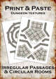 Print & Paste Dungeon textures: Irregular Passages & Circular Rooms