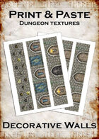 Print & Paste Dungeon textures: Decorative Walls