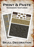 Print & Paste Dungeon Textures: Skull Decoration