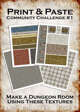 Print & Paste Dungeon textures: Community Challenge 1
