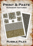 Print & Paste Dungeon textures: Rubble Piles
