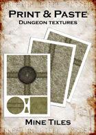Print & Paste Dungeon textures: Mine Tiles