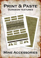 Print & Paste Dungeon textures: Mine Accessories