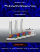 Wind powered Container ship