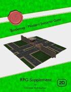 Battlemap : Modern Security Gate