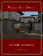 Walking Sandy Streets : Stockart Background