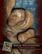 Battlemap : Rocky Forested Island