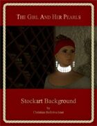 The Girl And Her Pearls : Stockart Background