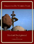 Balancing On Wooden Poles : Stockart Background