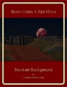 Ruins Under A Red Moon : Stockart Background