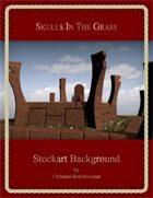 Skulls in the Grass : Stockart Background