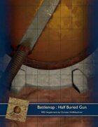 Battlemap : Half Buried Gun