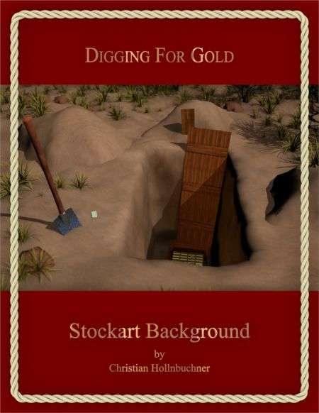Digging For Gold : Stockart Background
