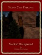 Hidden Cave Entrance : Stockart Background