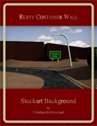 Rusty Container Wall : Stockart Background