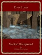 River Stairs : Stockart Background
