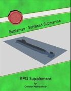 Battlemap : Surfaced Submarine