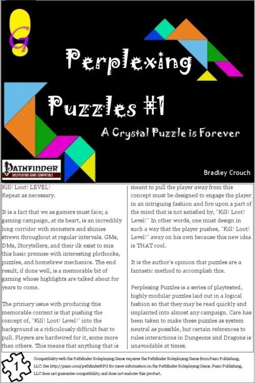 Perplexing Puzzles #1: A Crystal Puzzle is Forever