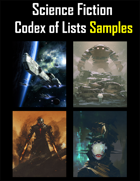Science Fiction Codex of Lists Samples