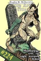 Clipart Critters 224 - Manbearpig...croc, cat, eagle, scorpion, demon