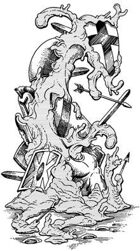 Clipart Critters 291: Junk Blob